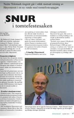 Sveinung Flaaten i Advokatbladet